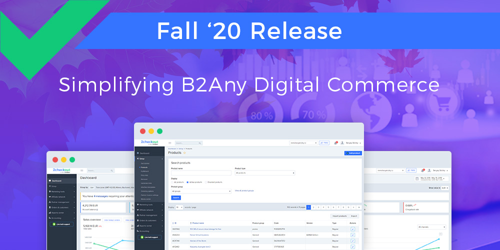 2Checkout Fall 2020 Release Helps Simplify B2Any Digital Commerce