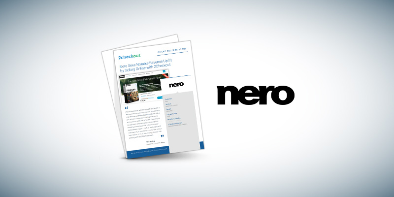 Nero Sees Notable Revenue Uplift by Selling Online with 2Checkout