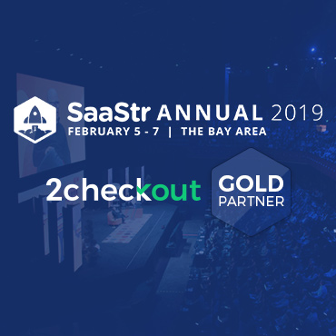 2Checkout a Gold Sponsor at SaaStr Annual